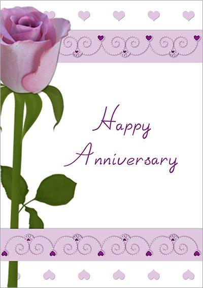 Purple Rose Anniversary Card 008
