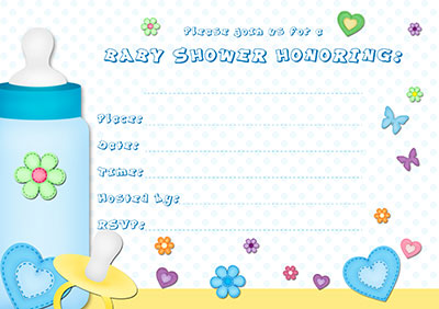 Floral Baby Shower Invitation 003