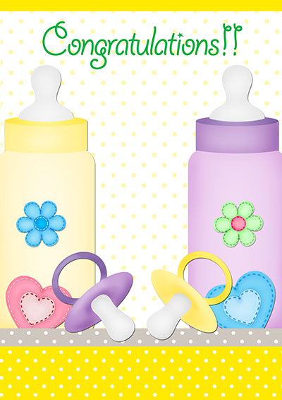 It's Baby Twins!! Printable Card 001