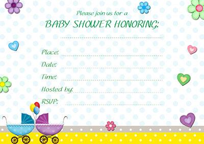 Twins Baby Shower Invitation 003