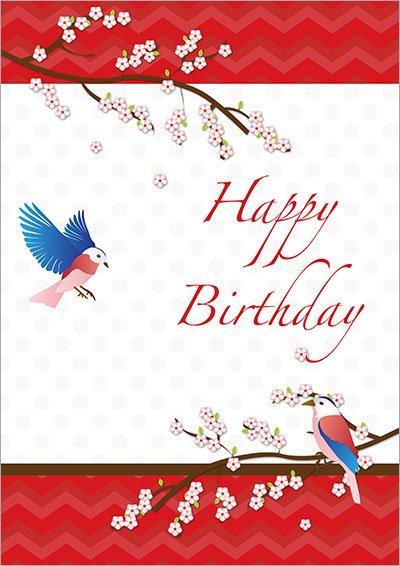 Blossom Love Birds Birthday 005