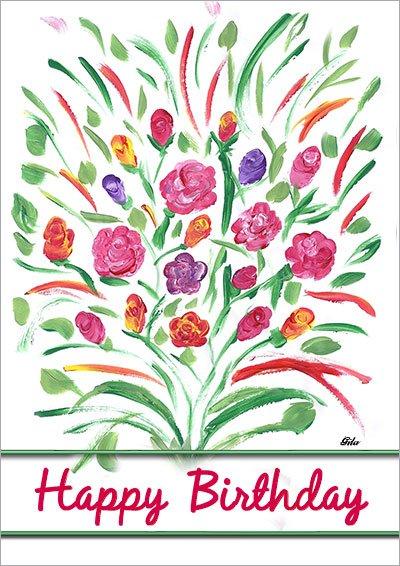 Floral Happy Birthday 007