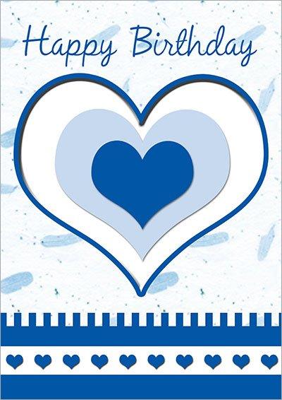 Birthday Hearts Wishes Card 034
