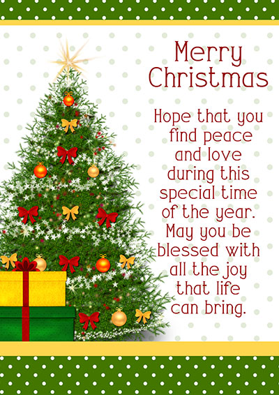 Christmas Tree Cards With A Wish 001
