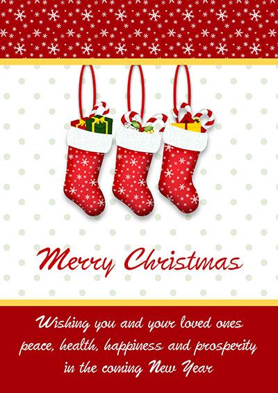 Merry Christmas Stockings Card 007