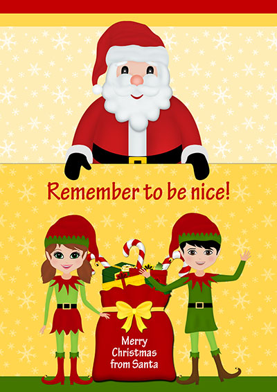 Remember To Be Nice Card 021