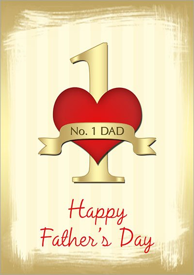 No. 1 Dad Father's Day Card 001