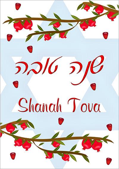 Pomegranate Branches Shanah Tova 002