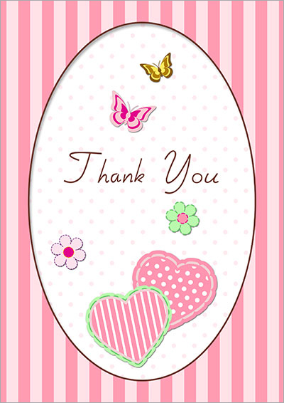 Free Printable Thank You Cards 001