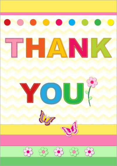 Free Printable Thank You Cards 003