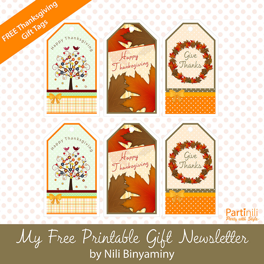 Free Printable Thanksgiving Gift Tags